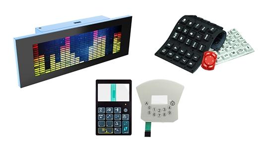 keypads displays LED